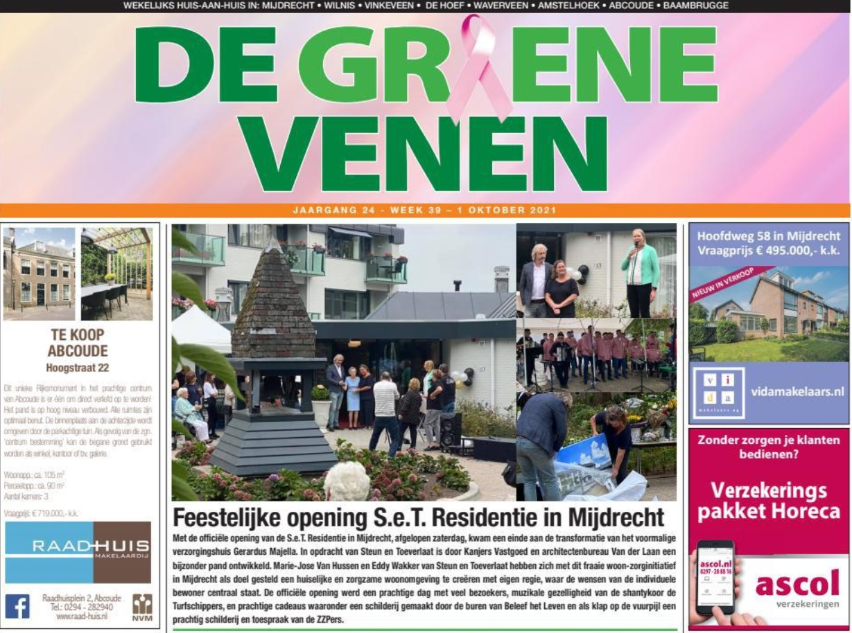 Feestelijke opening SeT Residentie – De Groene Venen